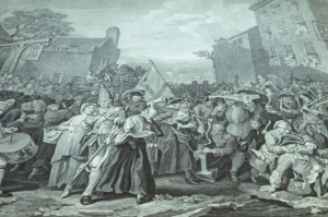 Hogarth engraving at the Musum of London